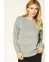 Forever 21 - Gray Contemporary Marled Pullover - Lyst