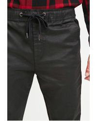 Forever 21 - Black Coated Chino Joggers for Men - Lyst