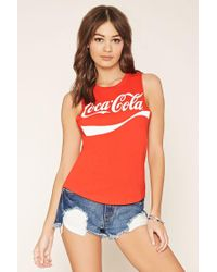 Forever 21 - Red Coca-cola Muscle Tee - Lyst