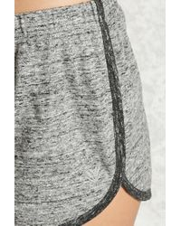 Forever 21 - Gray Active Slub Knit Shorts - Lyst