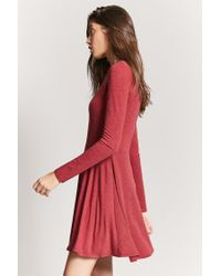 Forever 21 Red Knit Fit & Flare Dress