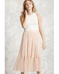 Forever 21 - Pink Contemporary Tulle Skirt - Lyst
