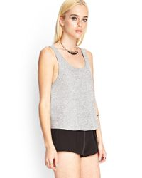 Forever 21 - Gray Soft Knit Tank - Lyst