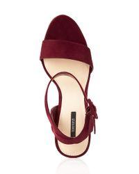 Forever 21 Red Striking Platform Sandals