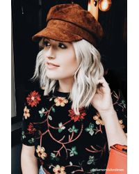 Forever 21 Multicolor Faux Suede Cabby Hat