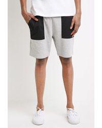 Forever 21 - Black 's Mesh-pocket Sweatshorts for Men - Lyst