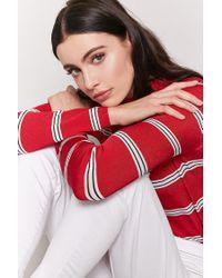 Forever 21 Red Stripe Jumper-knit Top