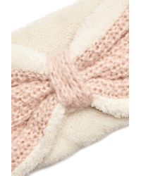 Forever 21 - Pink Knit Faux Shearling Headwrap - Lyst