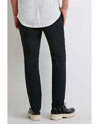 Forever 21 Black Slim Cotton Chinos for men