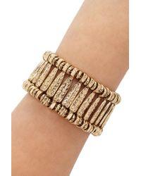 Forever 21 | Metallic Etched Floral Bracelet | Lyst