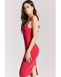 Forever 21 - Red Bodycon Midi Dress - Lyst