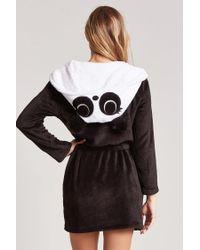 Forever 21 Black Fleece Panda Bathrobe