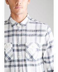 Forever 21 - Black Pocket Plaid Flannel Shirt for Men - Lyst