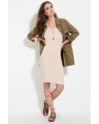 Forever 21 - Pink Women's Ponte Knit Bodycon Dress - Lyst