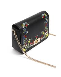 Forever 21 - Black Embroidered Faux Leather Crossbody - Lyst