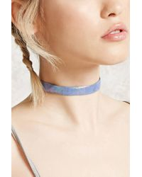 Forever 21 - Multicolor Iridescent Faux Leather Choker - Lyst