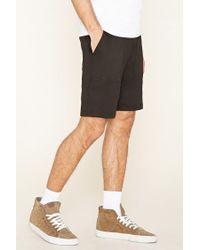 Forever 21 Black 's Mesh-pocket Sweatshorts for men