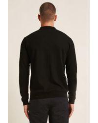 Forever 21 Black 's Long-sleeve Polo Shirt for men
