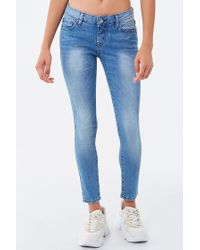 Forever 21 Blue Women's Low-rise Skinny Ankle Jeans