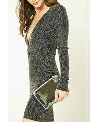 Forever 21 Metallic Patent Leather Clutch Bag