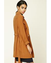 Forever 21 - Brown Belted Trench Coat - Lyst
