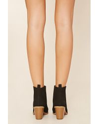 Forever 21 | Black Faux Leather Chelsea Boots | Lyst