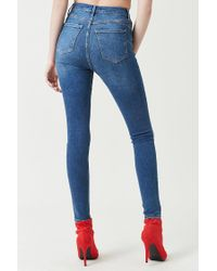 Forever 21 Blue Women's High-rise Push-up Jeans