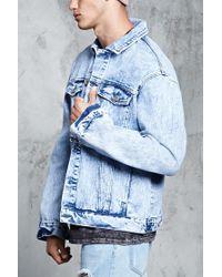 Forever 21 - Blue Acid Wash Denim Jacket for Men - Lyst