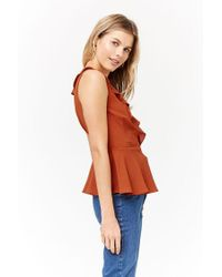 Forever 21 - Multicolor Ruffled Wrap Top - Lyst
