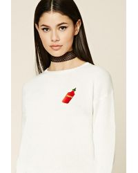 Forever 21 - White Swag Patch Graphic Sweater - Lyst