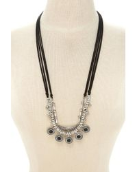 Forever 21 | Metallic Faux Stone Layered Necklace | Lyst