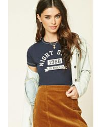 Forever 21 - Blue Night Owls Graphic Tee - Lyst
