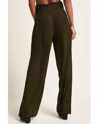 Forever 21 - Green Wide-leg Paperbag Trousers - Lyst