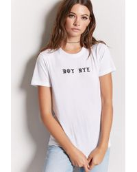 Forever 21 - White Boy Bye Graphic Tee - Lyst