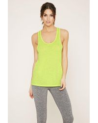 Forever 21 - Green Active Cutout-back Tank - Lyst