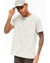 Forever 21 Gray 's Heathered Knit Pocket Tee Shirt for men