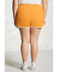 Forever 21 - Multicolor Plus Size Contrast Shorts - Lyst