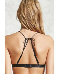 Forever 21 - Black Caged Lace Bralette - Lyst