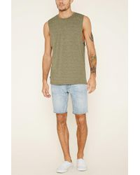 Forever 21   Blue Paint-spattered Denim Shorts for Men   Lyst