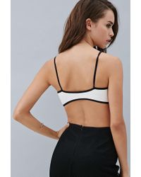 Forever 21 - Black Private Archives Faux Leather Bralette - Lyst