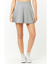 Forever 21 Gray Knit Skater Skirt