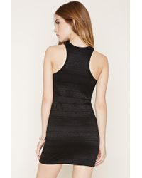 Forever 21 Black Floral Lace Bodycon Dress