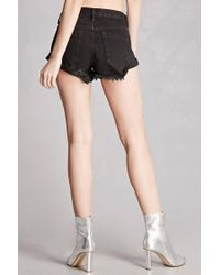 Forever 21 | Black Pixie And Diamond Denim Shorts | Lyst