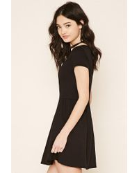 Forever 21 - Black Two-pocket Fit And Flare Dress - Lyst