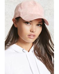 Forever 21 Pink Faux Suede Dad Cap