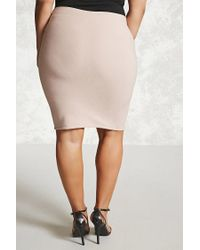 Forever 21 - Pink Plus Size Bodycon Skirt - Lyst