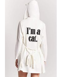Forever 21 - Multicolor Im A Cat Graphic Robe - Lyst