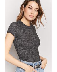 Forever 21 - Black Marled Knit Top - Lyst