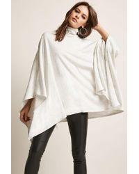 Forever 21 Natural Turtleneck Handkerchief Sweater
