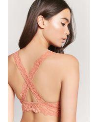 cf6614034827e Forever 21. Women s Lace Crisscross Bralette